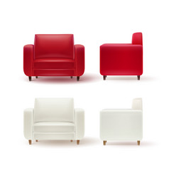 Set of armchairs vector