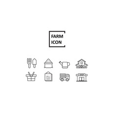 simple line farm vector image vector image