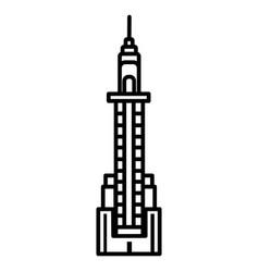 skyscraper line icon sign on vector image vector image