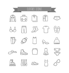 Stock clothes icons vector