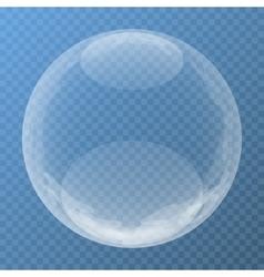 Unique bubble with glare vector