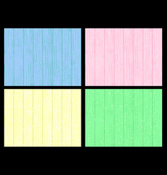 wooden wall blue pink yellow green colors vector image vector image