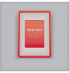 Abstract simple red picture frame vector