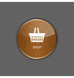 Shop wood application icons vector