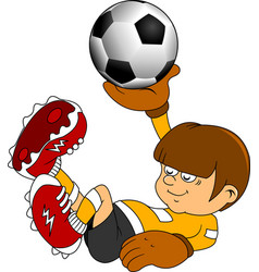 Goalkeeper in the game vector