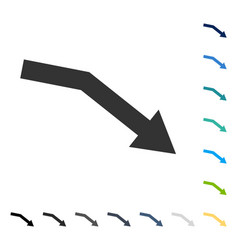 Fail trend icon vector