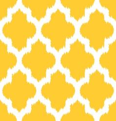 Moroccan ikat yellow vector