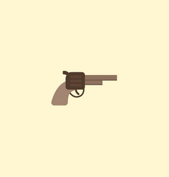 flat icon gun element of flat vector image