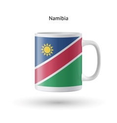 Namibia flag souvenir mug on white background vector