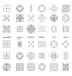 Set of geometric hipster shapes45 vector
