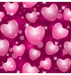 pink hearts vector image