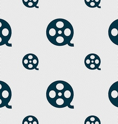Video sign icon frame symbol seamless pattern with vector