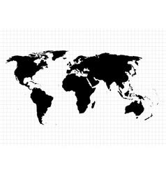 World map on the background of the grid vector