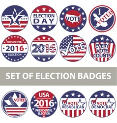 Voting badges vector