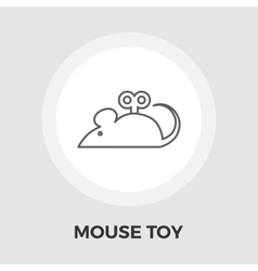 Mouse toy flat icon vector