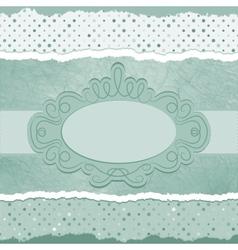Vintage polka dots elegant card vector