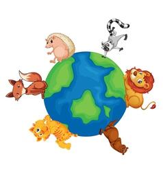 Animals around the world vector