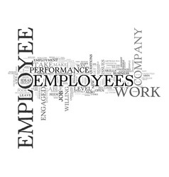 are you in awe of your employees text word cloud vector image vector image