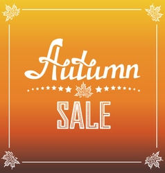 Autumn sale poster vector