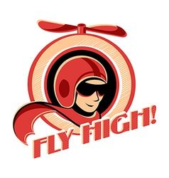 Aviator sticker vector