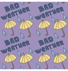 Bad weather pattern vector image