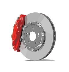 brake disc vector image vector image