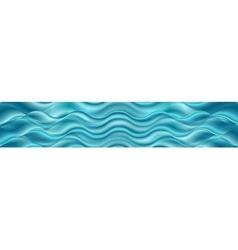 Bright blue wavy header banner vector