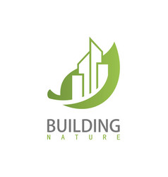 building nature logo vector image