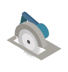 Circular saw icon isometric 3d style vector