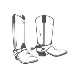 Cowboy boot western vector
