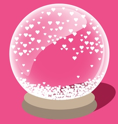 Crystal ball of love vector image