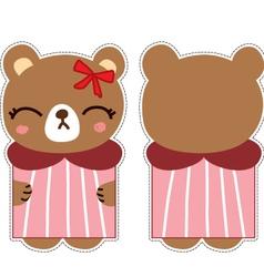 cute bear card vector image