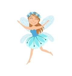 Cute Fairy With Chaplet Girly Cartoon Character vector image