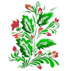 Decorative flowers composition vector