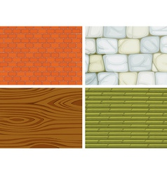 Different textures vector image vector image