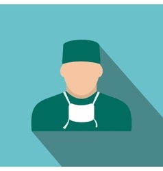 Doctor flat icon vector