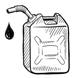 doodle gas tank can vector image