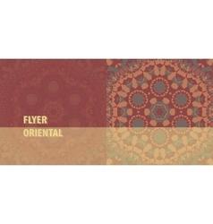 Flayer cover template design abstract retro vector