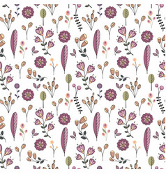 flowers decorative seamless pattern vector image vector image