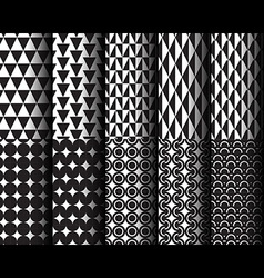 Geometric Style Pattern 001 vector image vector image