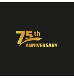 Isolated abstract golden 75th anniversary logo on vector