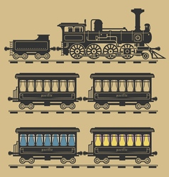 Locomotive train vector