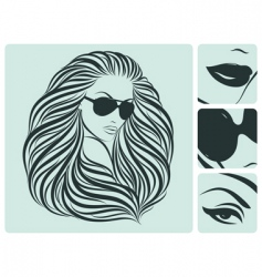 Long hairstyle vector