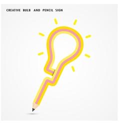Pencil and light bulb vector