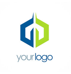 polygon colored business logo vector image vector image