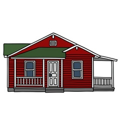 Red wooden house vector