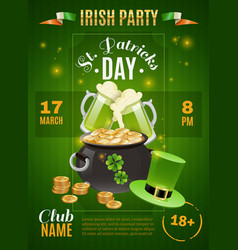 saint patricks day poster vector image