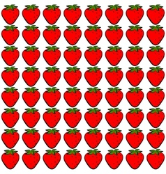 Seamless stawberry vector image vector image
