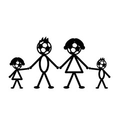 Soccer stick family vector