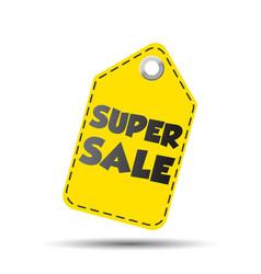 Super sale yellow hang tag vector